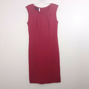 LAFAYETTE 148 New York Knit Red Sheath Dress P XS